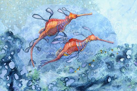 Weedy Sea Dragon Pair