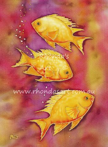 Yellow Damsel Fish