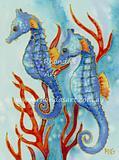 Blue Seahorses