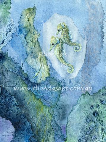 Green Seahorses