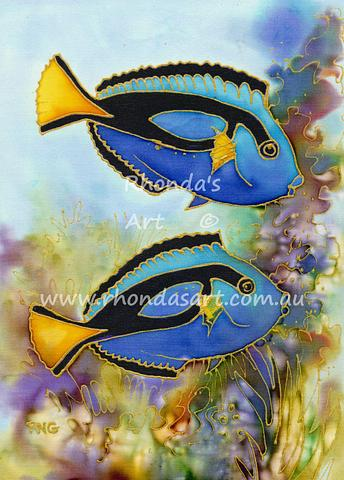 Two Blue Tangs